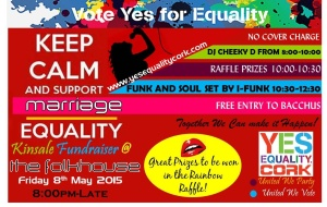 Poster for Kinsale yes equality cork fundraiser