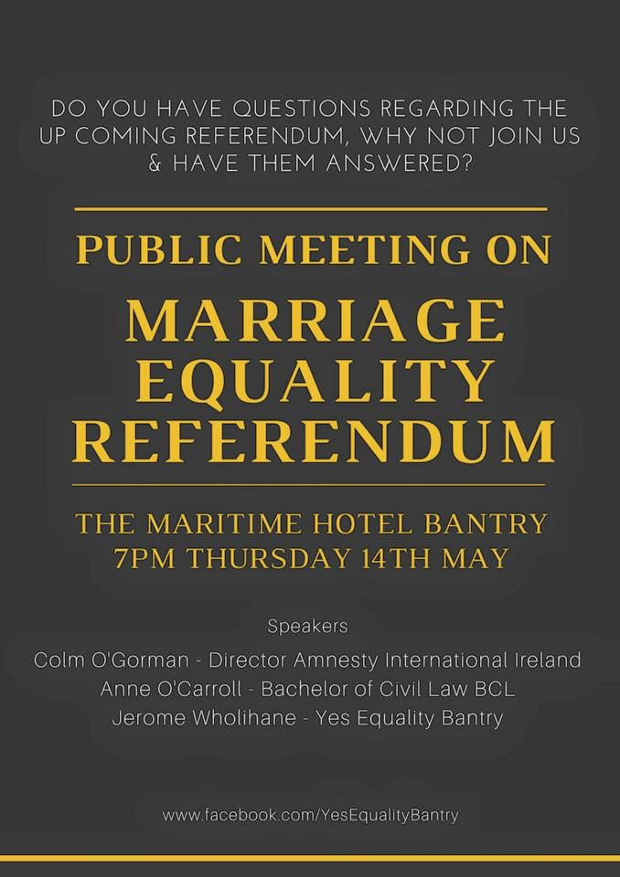 Bantry meeting on marriage referendum